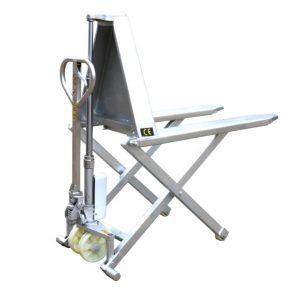 Škarjasti paletni voziček HSG540M iz nerjavečega jekla z visokim dvigom